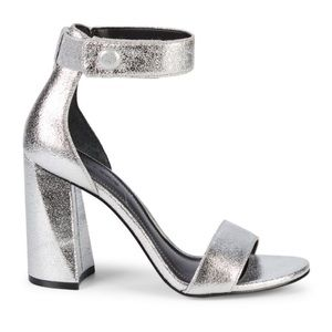 Kendall and Kylie silver sandal